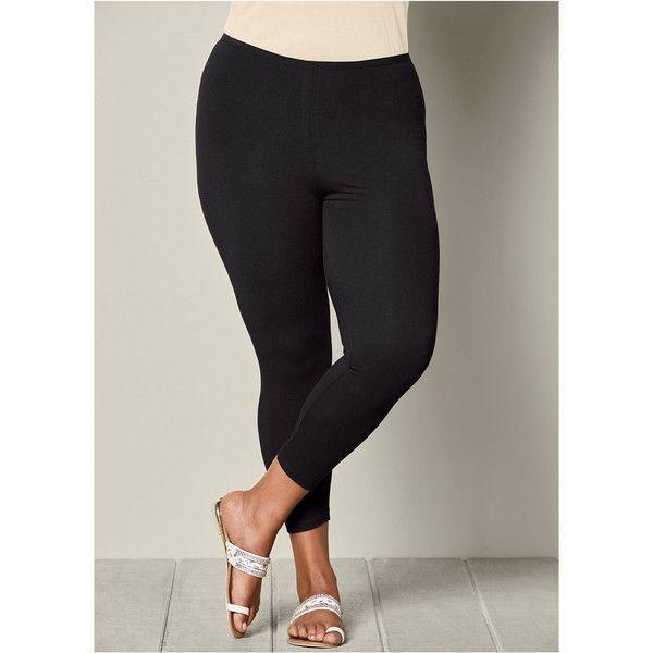 27a61e15f30 Venus Plus Size Women s Basic Capri Leggings ( 8.99) ❤ liked on ...
