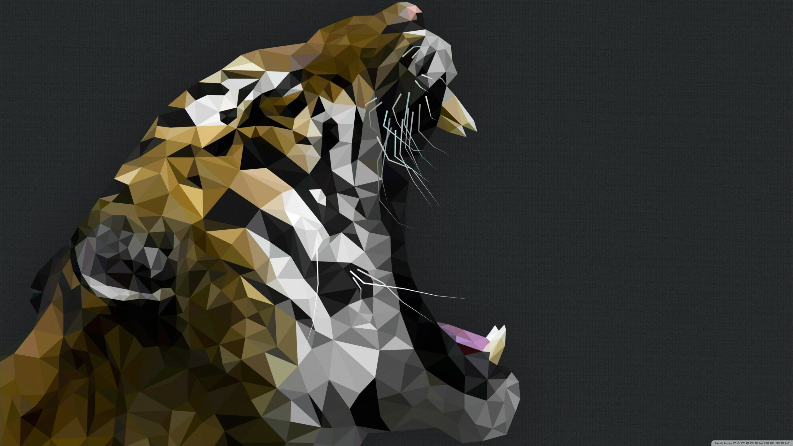 4k Uhd Polygon Wallpapers In 2020 Tiger Art Animal Wallpaper Art Wallpaper