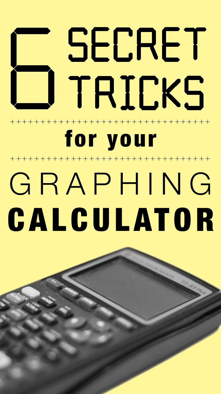 calculus cheat sheet for high school and college students a 6 things you didn t know you could do your graphing calculator college math helpstudy