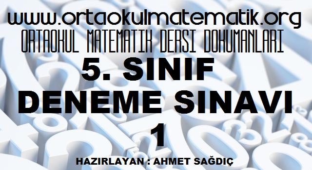 5. SINIF MATEMATİK DENEMESİ 1