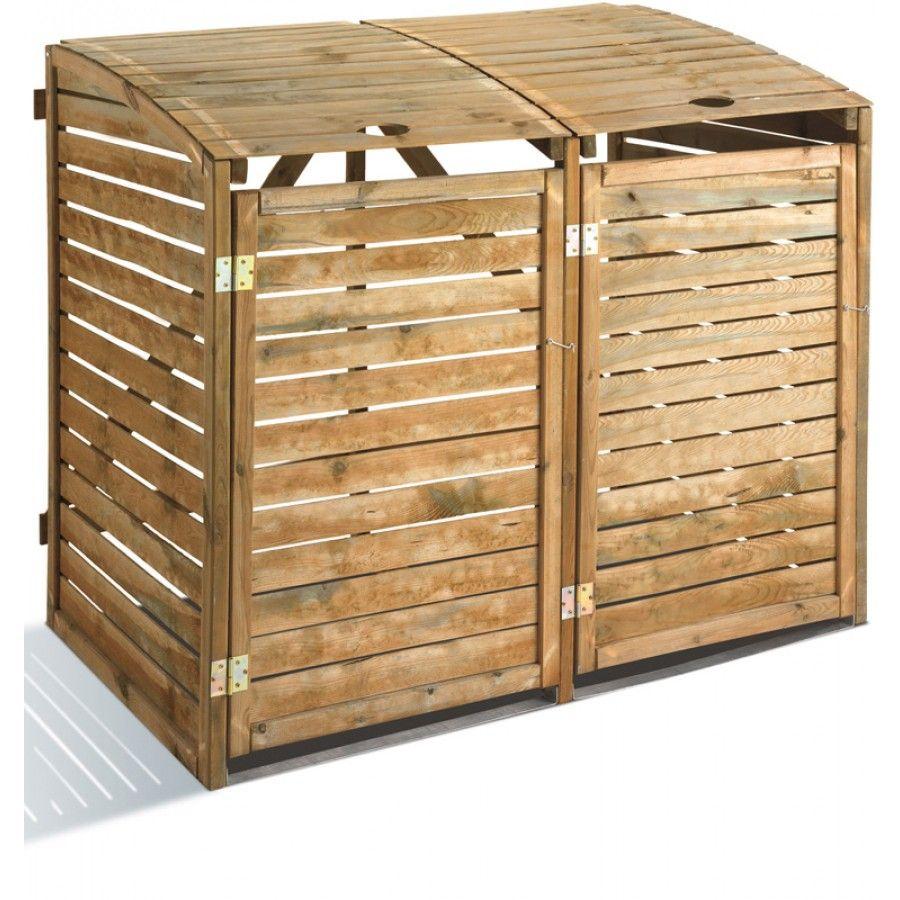 cache poubelle en bois first jardin pinterest poubelle en bois et bois. Black Bedroom Furniture Sets. Home Design Ideas