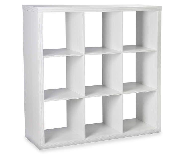 Stratford White 9 Cube Storage Cubby Cube Organizer Shelf