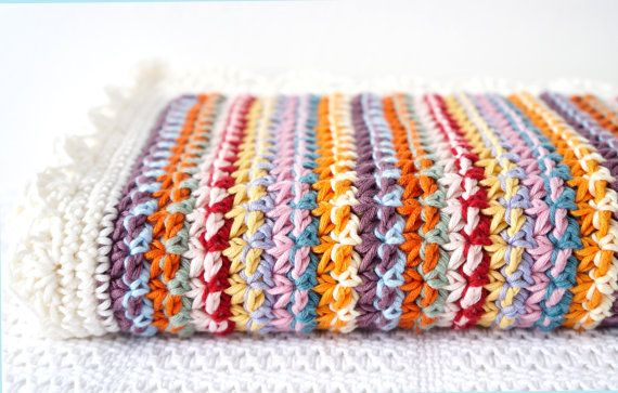 Baby Crochet Blanket Pattern, Easy to Make, For Boy or Girl, Adult ...