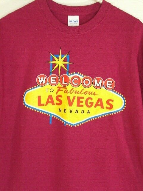 Iconic Welcome to Fabulous Las Vegas Sign Men/'s T-shirt High Quality Tee