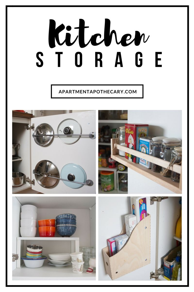 Kitchen storage solutions using the inside of kitchen cupboard ...