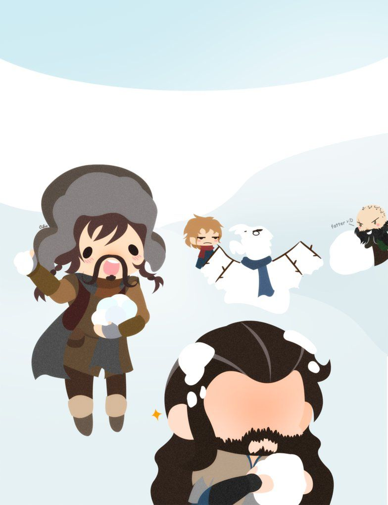 The Hobbit Advent - Snowball fight by CibiaH on DeviantArt