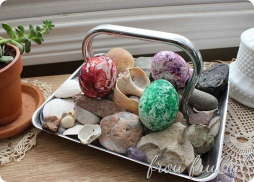 Marbled Crayon Easter Eggs