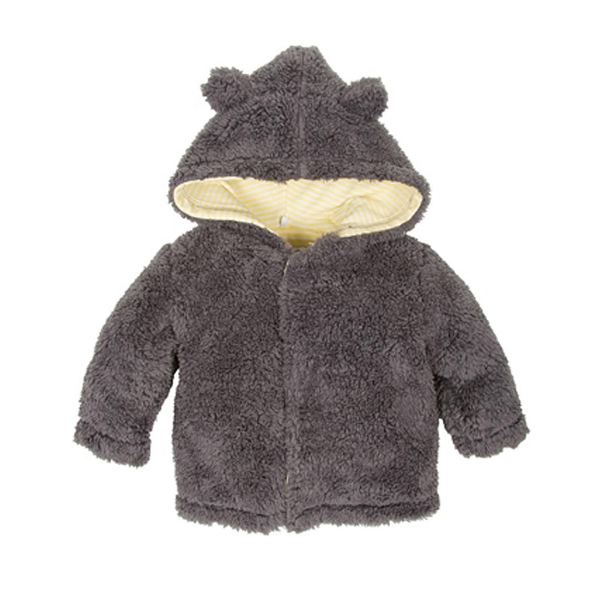 Steel hooded bear jacket at magnetic me by magnificent baby in grey