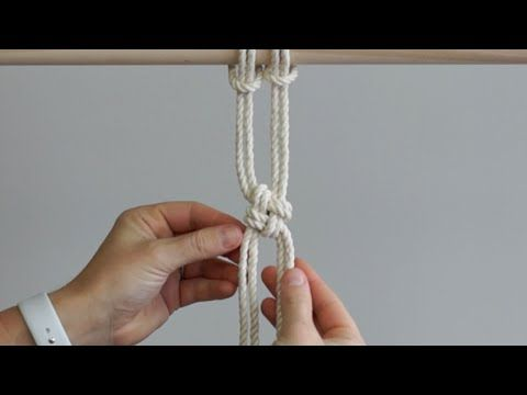 DIY Macrame Tutorial: New Method to Tie The Chinese Square Knot!