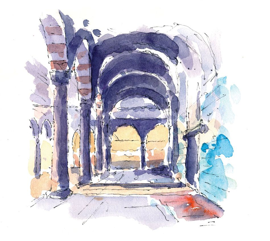 Rustem-Pasha, Turkey. Watercolours by Ole Sondergaard