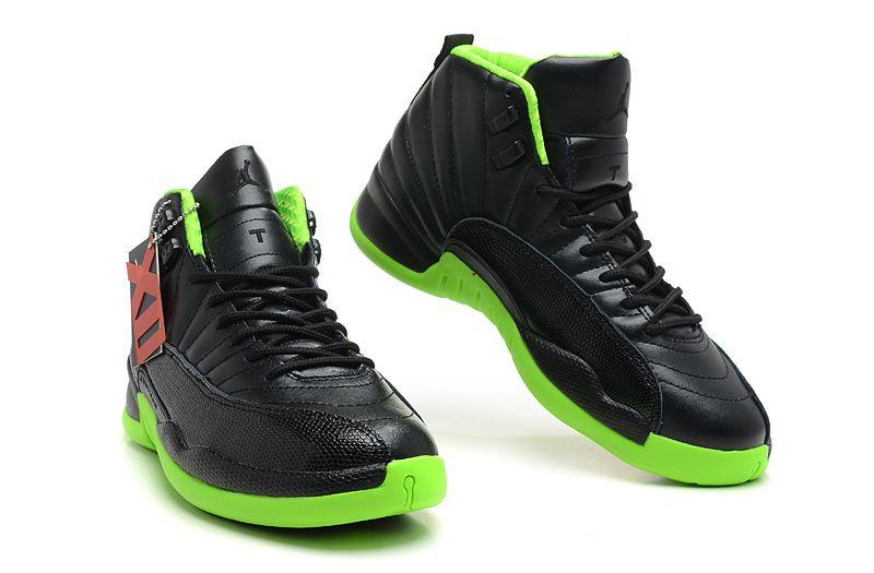 Air Jordan 12 Retro Black Electric Green #Black #Womens ...