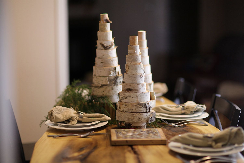 Birch Wood Christmas Tree - Winter Wedding - Christmas ...