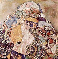 "Gustav Klimt, ""La culla"", 1917-18, olio su tela. Washington D.C., National Gallery of Art"