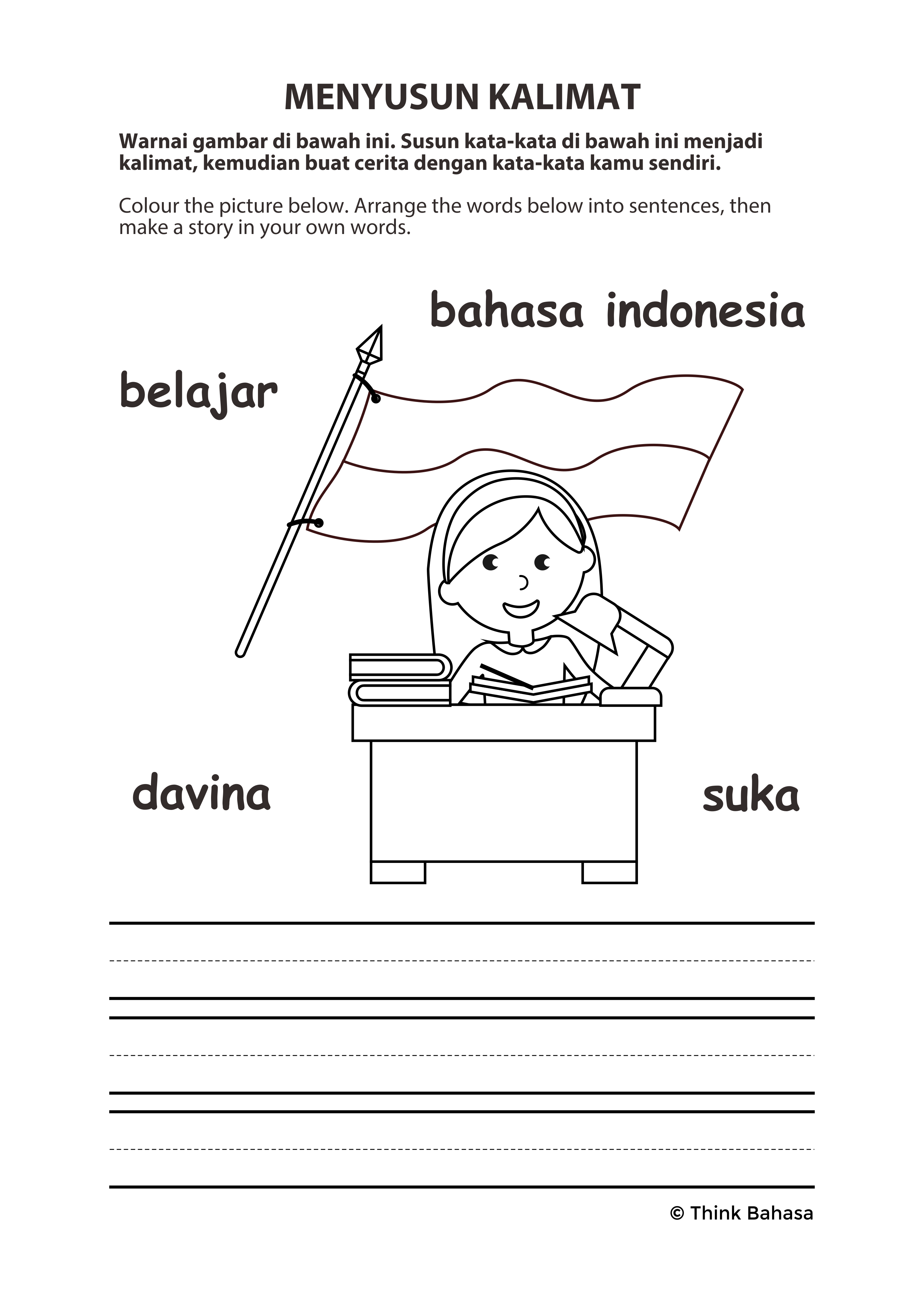 Primary Indonesian Lote Worksheet