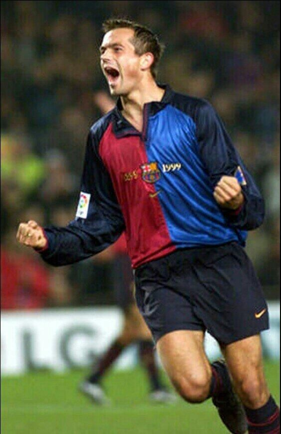 Phillip Cocu was with Barca 1998 to 2004. In 205 league matches he scored  31 goals from his midfield position.