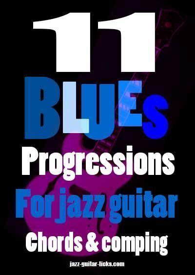 11 blues jazz progression for jazz guitar - Pdf eBook #guitarchords ...