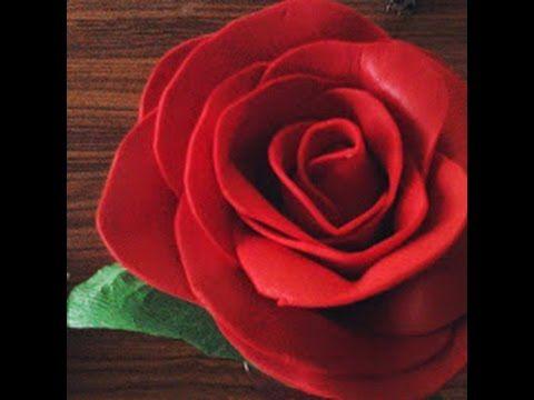 6d87f6976fe Rosas de Foami   Rosas con Goma Eva   Manualidades Sammily Chuladas ...