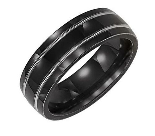 Mens Black Wedding Band Deff Like This Better Then Gold Or