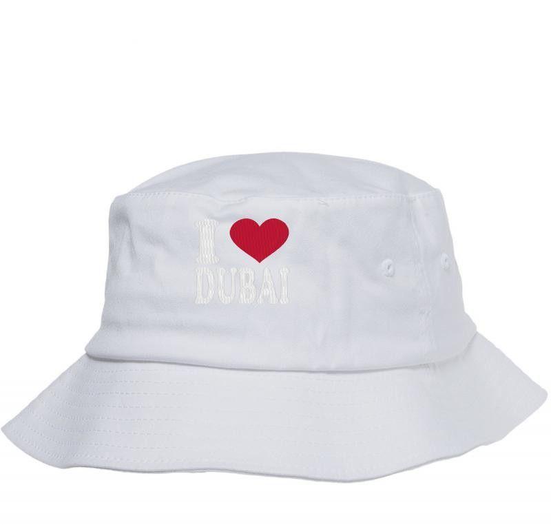 I LOVE DUBAI embroidery Bucket Hat