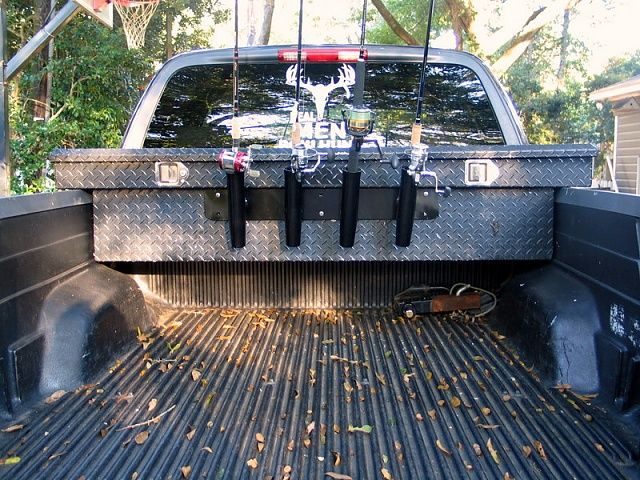 Fishing rod holders for truck google search ultimate for Truck bed fishing rod holder