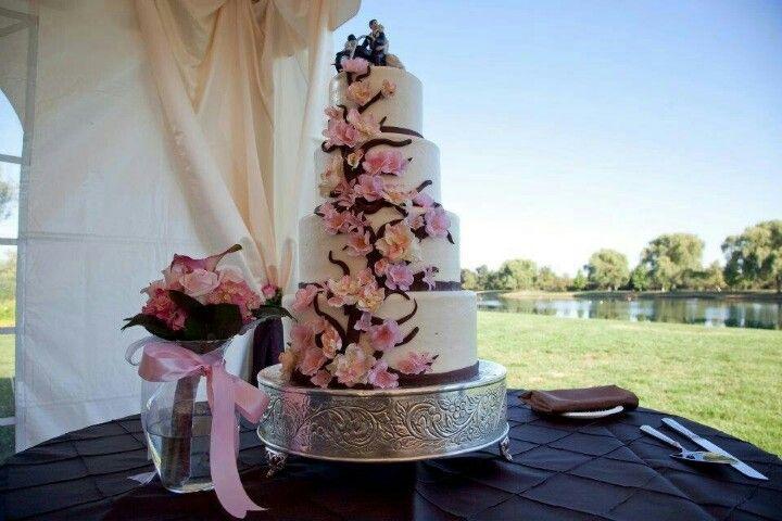 My wedding cake. Cherry blossom theme