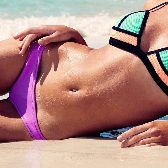 6e672b6326 Neoprene purple bikini bottoms Triangl dupe - bambi sugar plum purple bikini  bottoms, neoprene. New/never worn! triangl swimwear Swim Bikinis