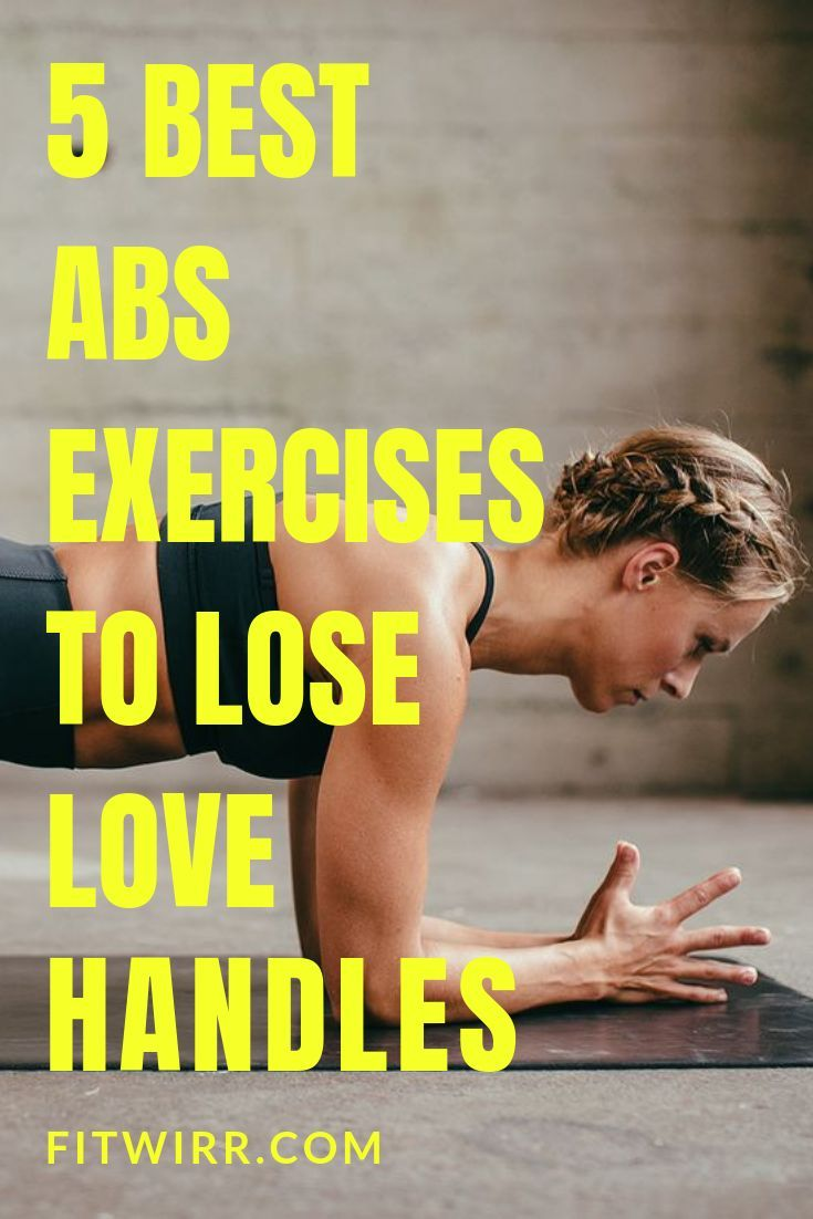 5 best abs exercises to lose love handles and get a flatter tummy at home.   #abexercises #loseloveh...