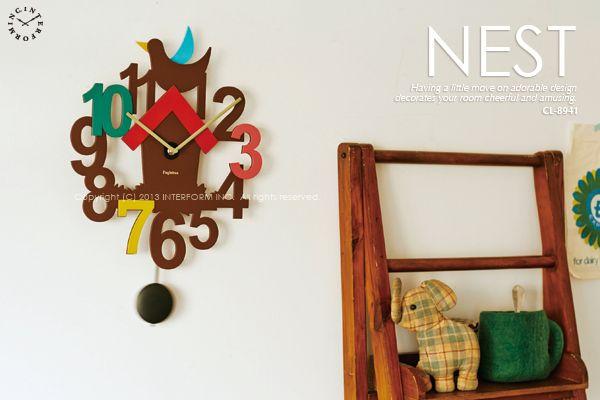 【インターフォルム】NEST[ネスト]■振り子時計:INTERFORM