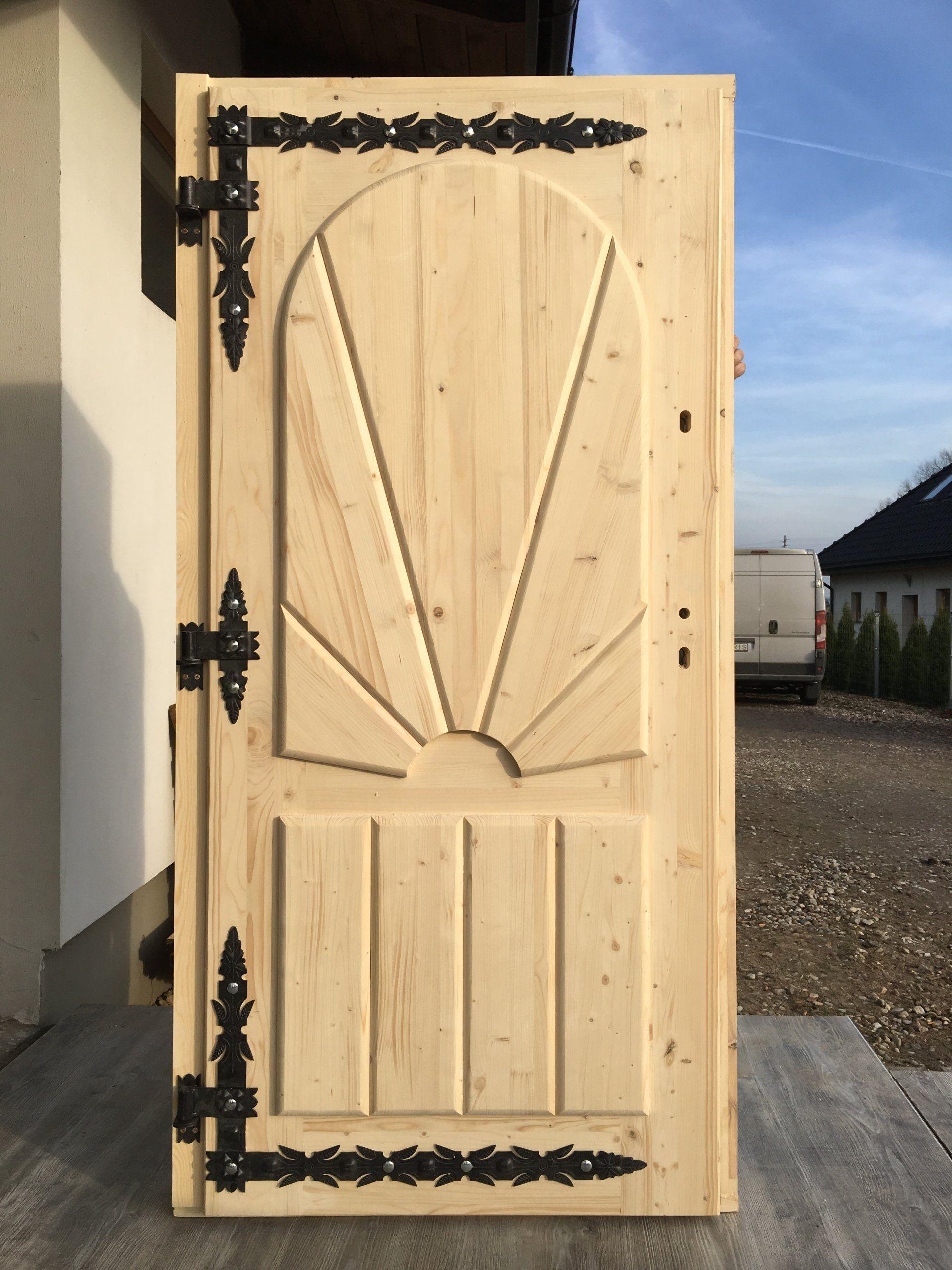 Drzwi Drewniane Zewnetrzne Goralskie Swierkowe 7 5 7078437690 Oficjalne Archiwum Allegro Wooden Doors Rustic Bedroom Furniture Furniture Design Modern