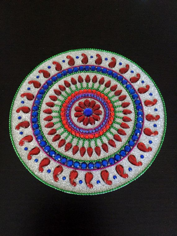 Mandala Rangoli Table Decor Indian Home Bollywood By Cozmhy
