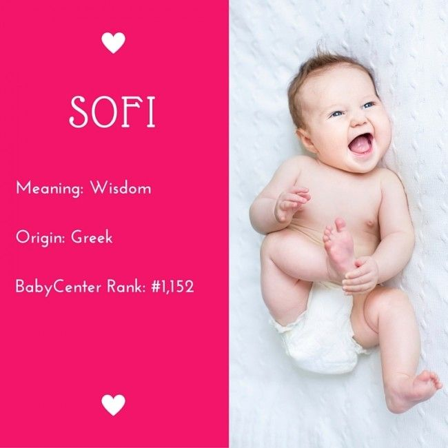d11dc9ec0946 15 beautiful baby names like Sophia (but not as popular!)