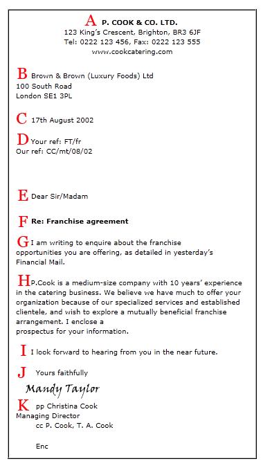 proper business letter format 2