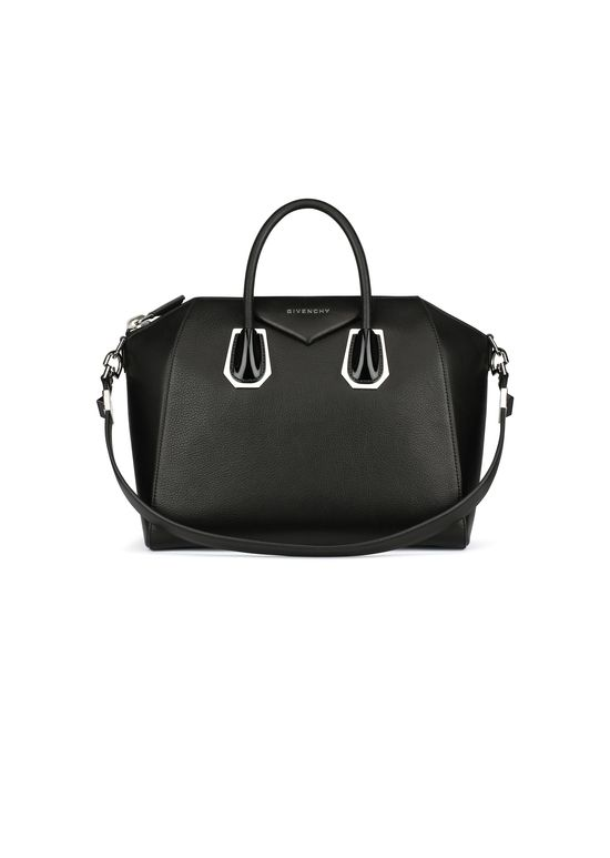f80ef97c3e6 Givenchy - Antigona Medium Bag in Grained Leather and Plexi Details ...