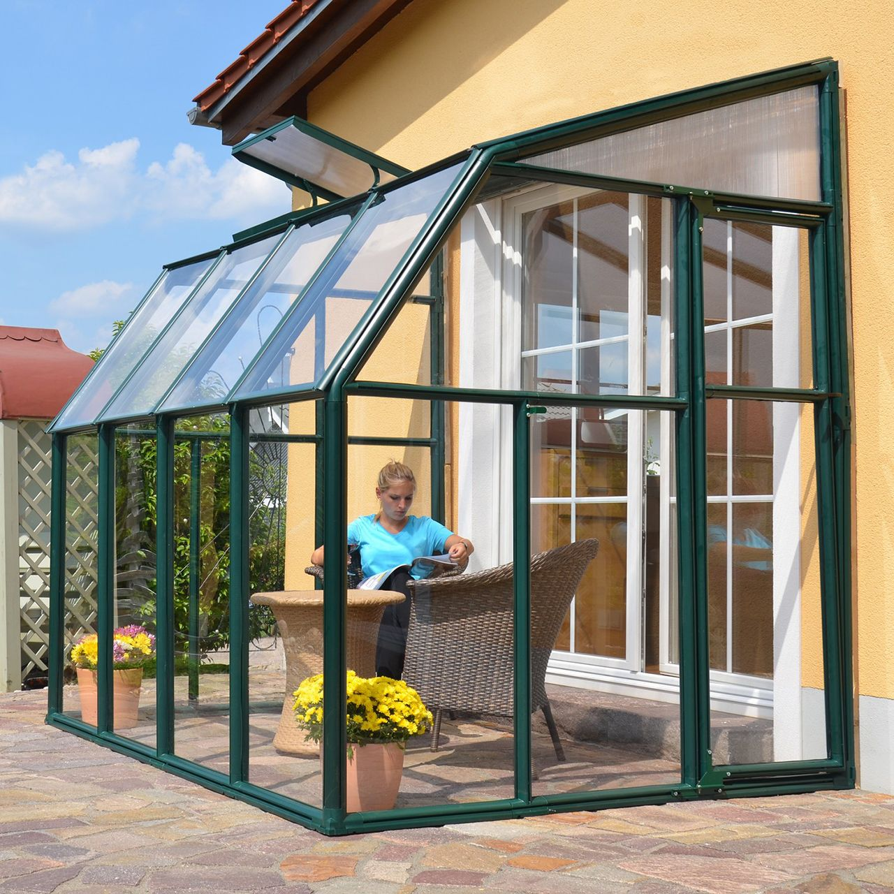 Rion Sun Lounge Lean To Greenhouse Hobby Kits