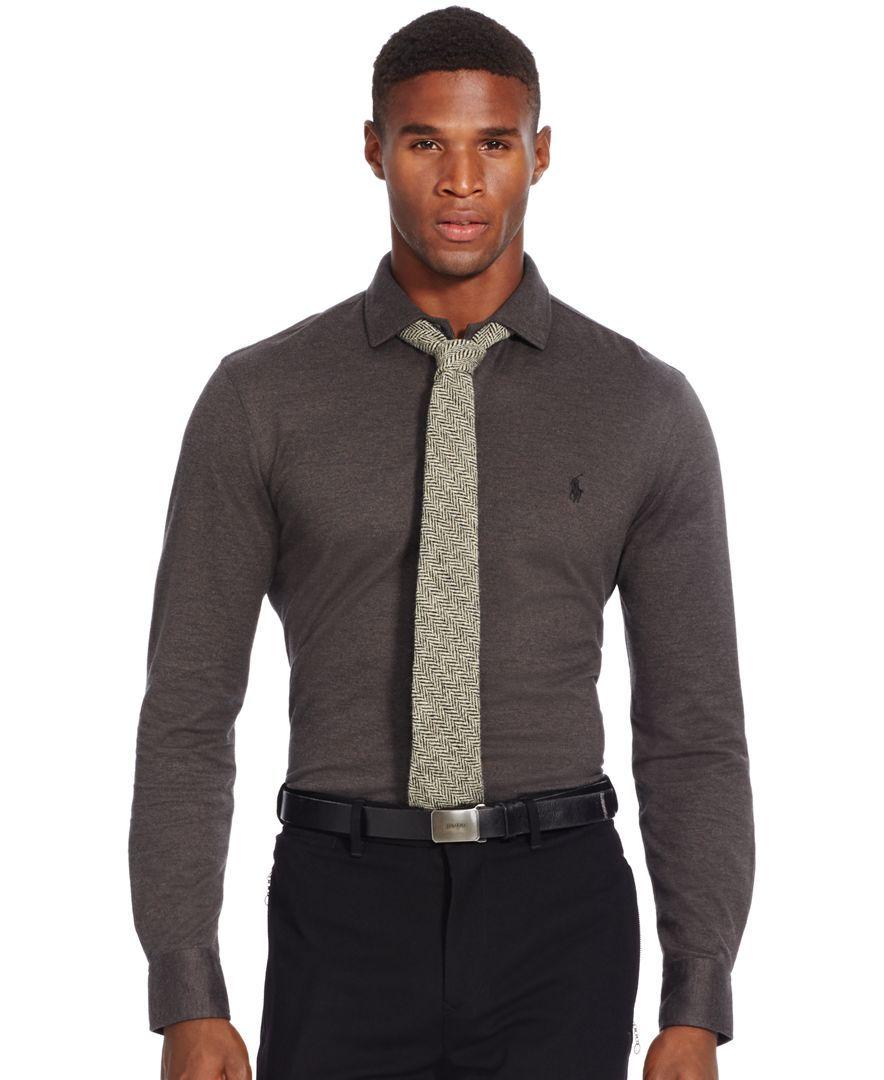 Polo Ralph Lauren Knit Estate Dress Shirt Men Outfits Shirt
