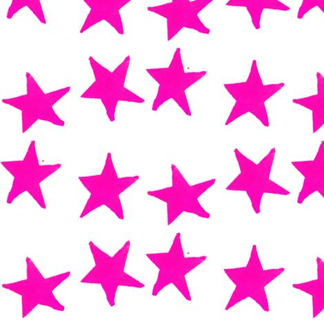 Fabric cestlaviv_pinkpunch_stars