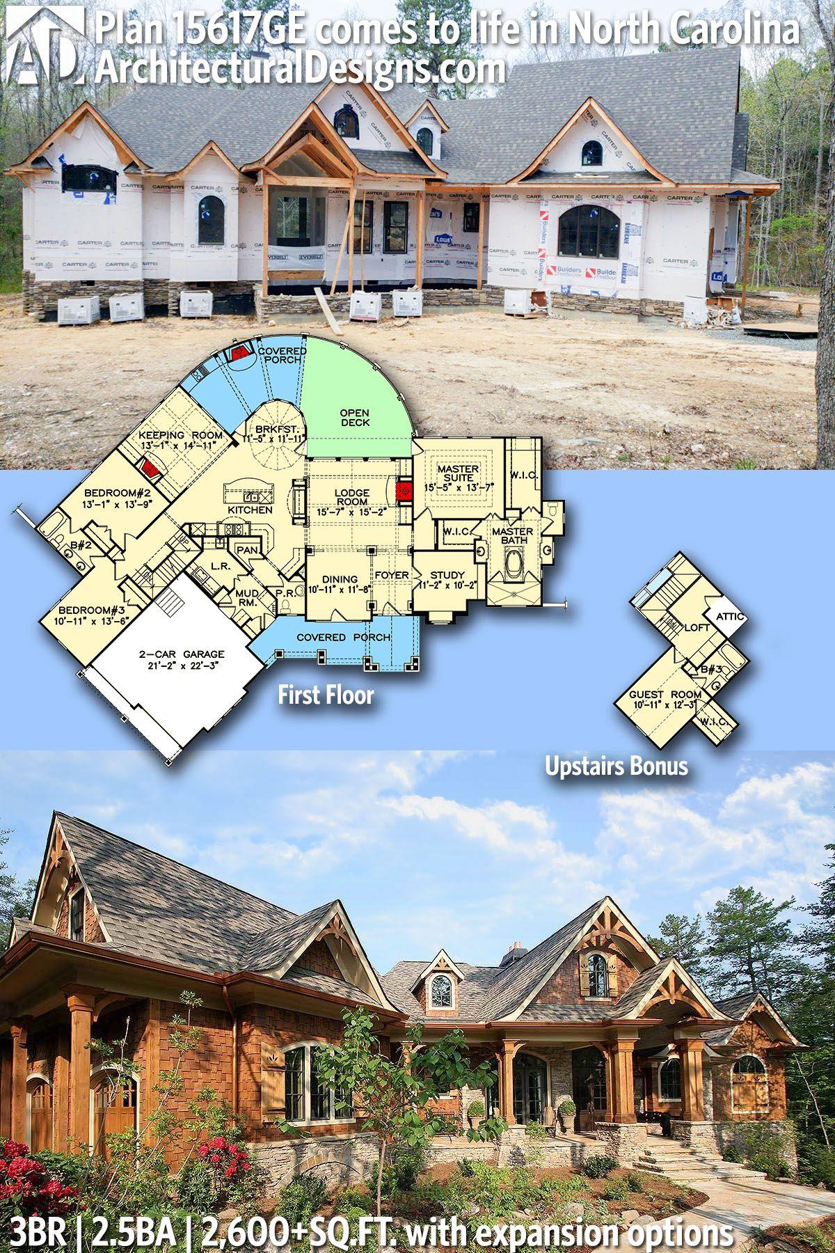 Architectural Designs House Plan 15617GE under construction
