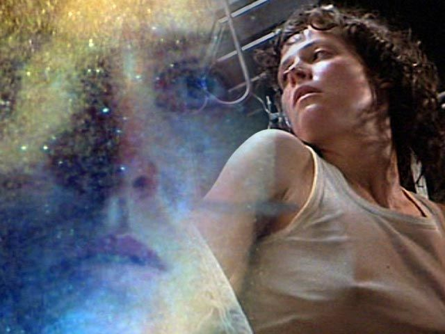 Sigourney Weaver as Lt. Ellen Ripley in Alien