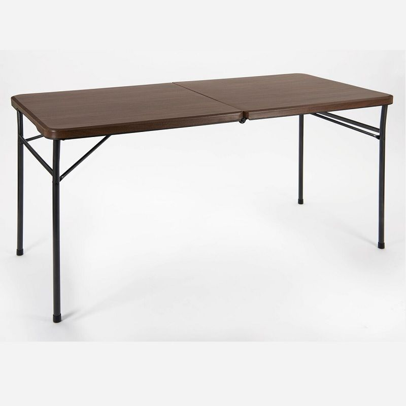 Gablemere Woodgrain Foldaway 150cm Dining Table On Sale Dining Table Wooden Garden Furniture Metal Garden Furniture