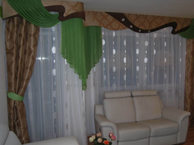 Moderne dekoration vorhang schabracke modern - Schabracke gardine ...