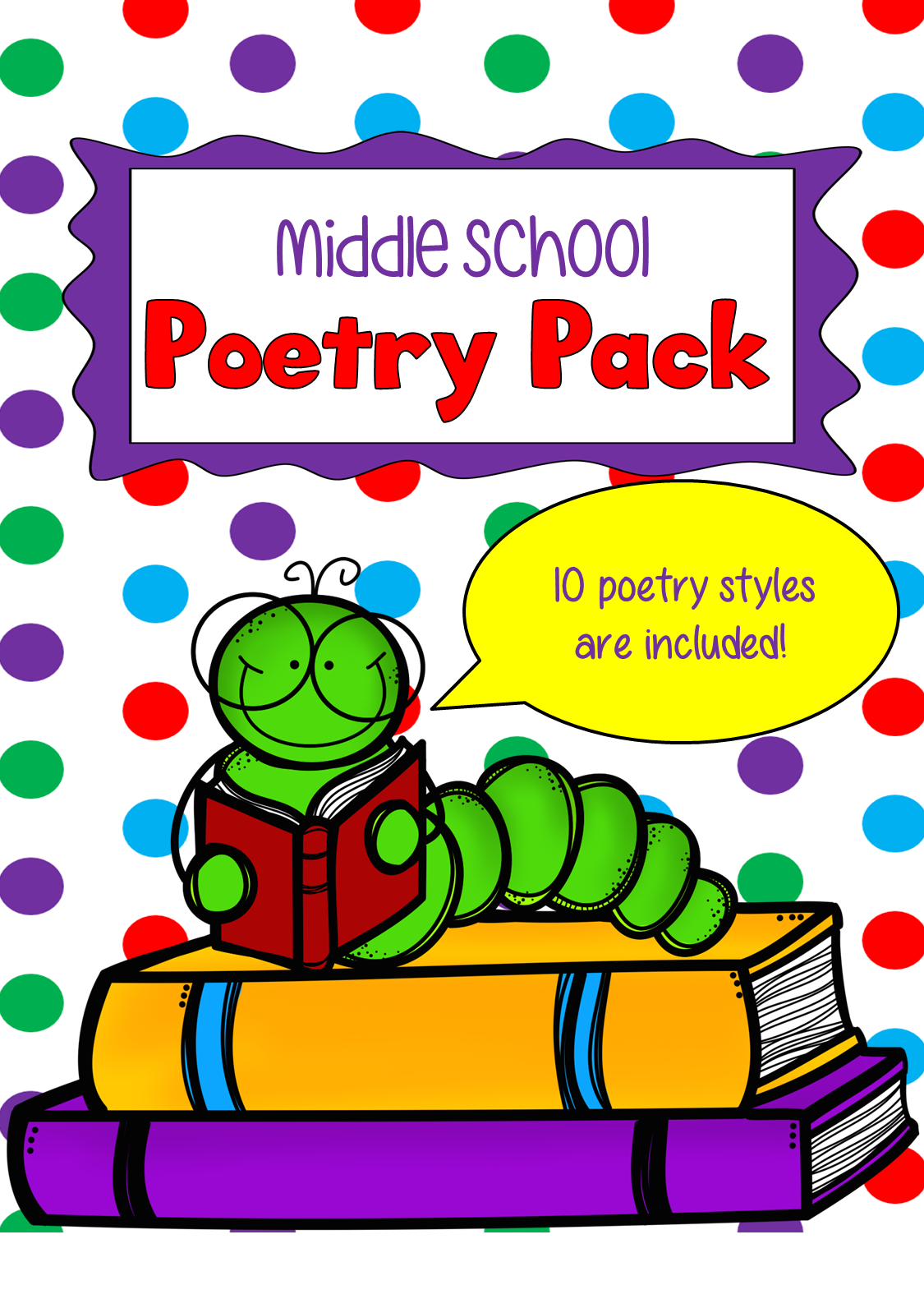 Middle School Poetry Pack Grades 5 9