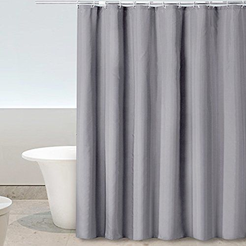 Eforgift Waterproof Bathroom Curtain Pure Grey Mold Mildew Resistant Stall Shower Anti Bacterial 100 Polyester Fabric With Reinforced Me