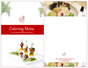 catering menu template 768x595 flyers and brochures pinterest