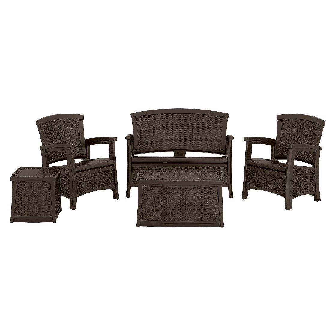 Suncast ELEMENTS  5 Piece Resin Classic Patio Set With Storage