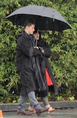 Josh Dallas and Ginnifer Goodwin on set March 4th 2014.
