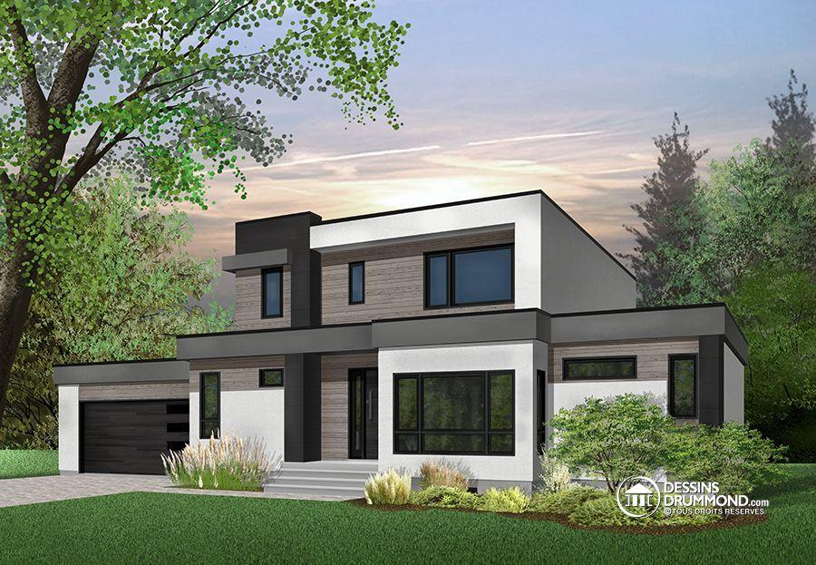 Détail du plan de Maison unifamiliale W3883 plans Pinterest