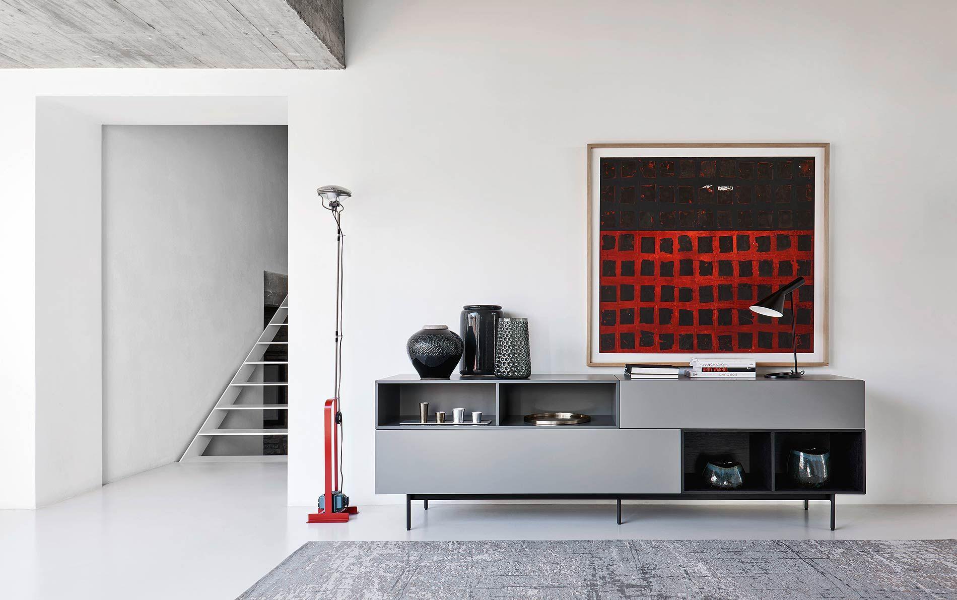Graues Sideboard graues sideboard auf füßen wohnideen