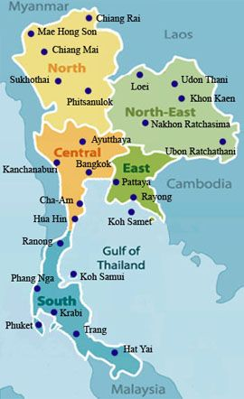 Thailand Map - best maps | Thailand travel, Thailand ...