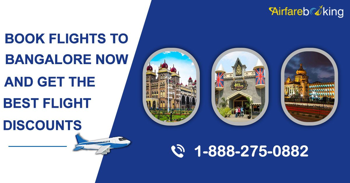 Book your Bangalore flight tickets with #Airfarebooking. Good offers, compare prices and get the best deals on flight booking to Bangalore.  For more information call us at- 1-888-275-0882 (Toll-Free)  #Travel #FlightsToBangalore #travelindia #flightticketoffers #Travelers #BookCheapFlights #AirfareFlights #CheapFlightstoBangalore #traveling #Attractions #Bangalore #traveltips #travellovers