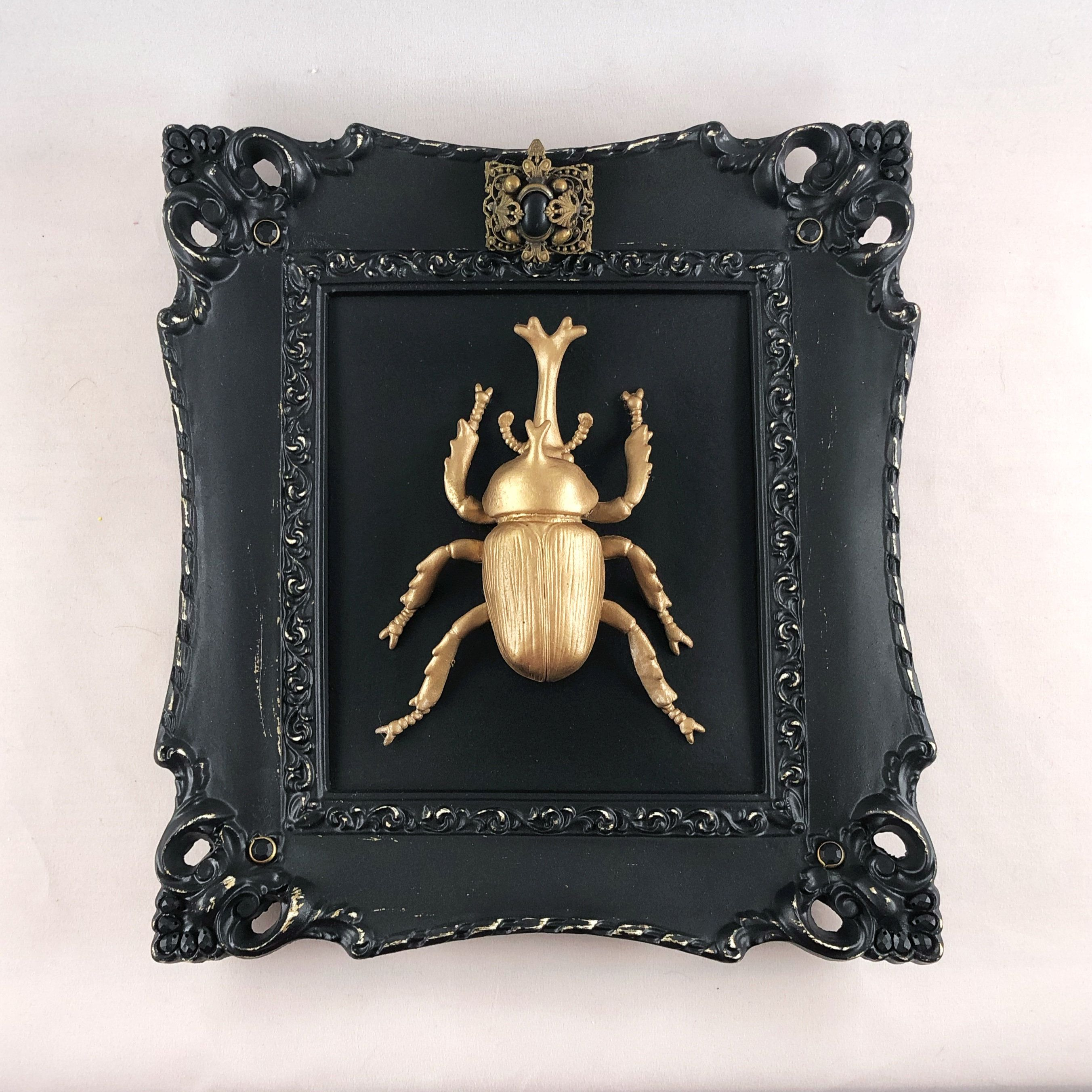 RESERVED for Lola: Faux taxidermy beetle ornate jeweled | Etsy